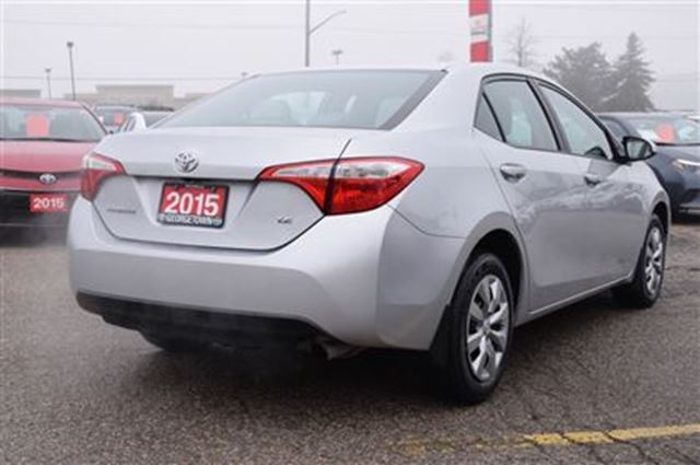 2015 toyota corolla le georgetown ontario used car for sale. Black Bedroom Furniture Sets. Home Design Ideas