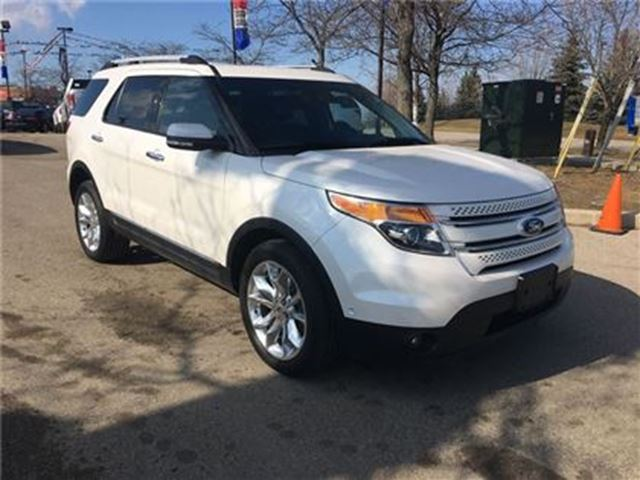used 2015 ford explorer limited sunroof navigation 2nd row bucket seats mississauga. Black Bedroom Furniture Sets. Home Design Ideas