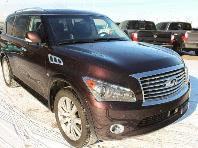 2014 infiniti qx80 tech package 7 seater edmonton alberta used car for sale 2710528. Black Bedroom Furniture Sets. Home Design Ideas