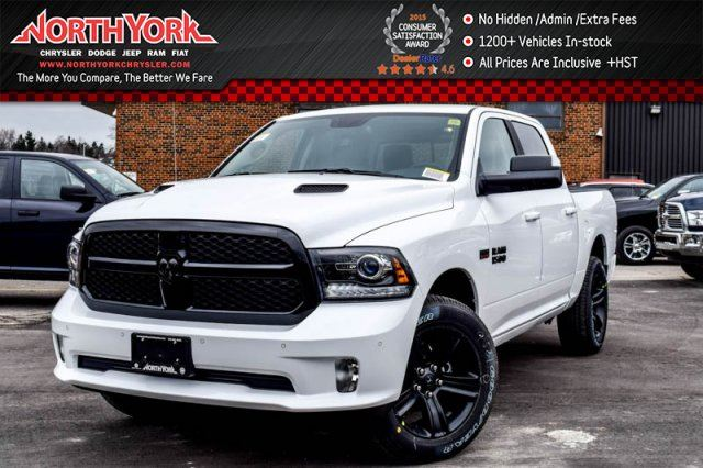 2017 ram 1500 new car night edition 4x4 crew convi pkg sunroof sport hood 20alloys white north. Black Bedroom Furniture Sets. Home Design Ideas