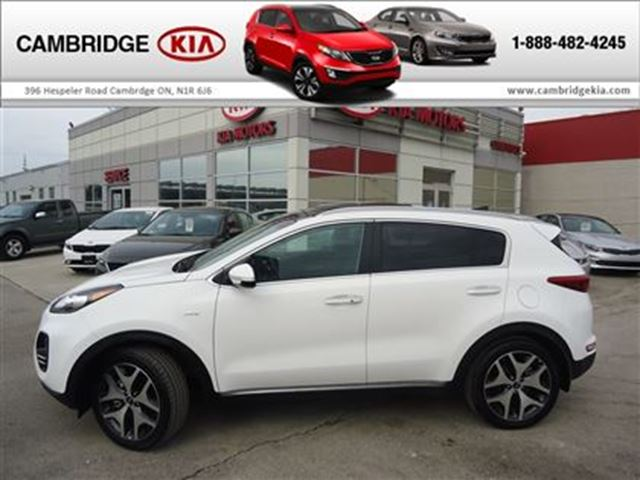 2017 kia sportage sx turbo loaded demo white cambridge kia. Black Bedroom Furniture Sets. Home Design Ideas