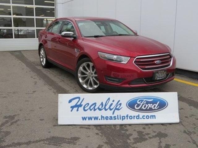 2016 ford taurus limited awd red heaslip ford. Black Bedroom Furniture Sets. Home Design Ideas