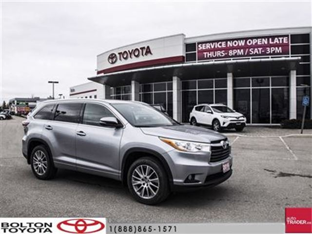 2016 toyota highlander xle awd one owner loaded just arrived bolton ontario used car for. Black Bedroom Furniture Sets. Home Design Ideas