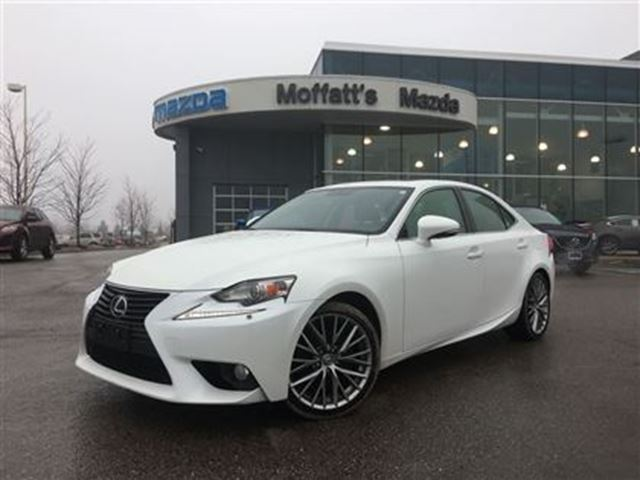 2014 LEXUS IS 250 AWD, HEATED/COOLED SEATS, HEATED WHEEL, SUNROOF, L in Barrie, Ontario