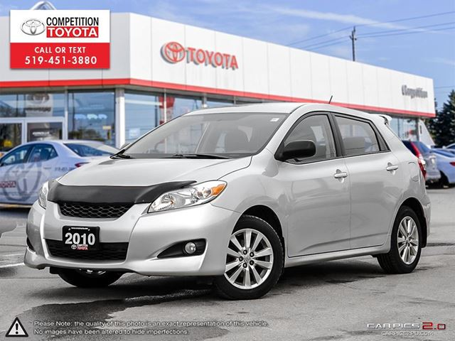 2010 toyota matrix base one owner no accidents toyota serviced london ontario used car for. Black Bedroom Furniture Sets. Home Design Ideas