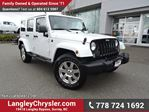 2015 Jeep Wrangler Unlimited Sahara ACCIDENT FREE w/ 4X4, 6-SPEED MANUAL & NAVIGATION in Surrey, British Columbia