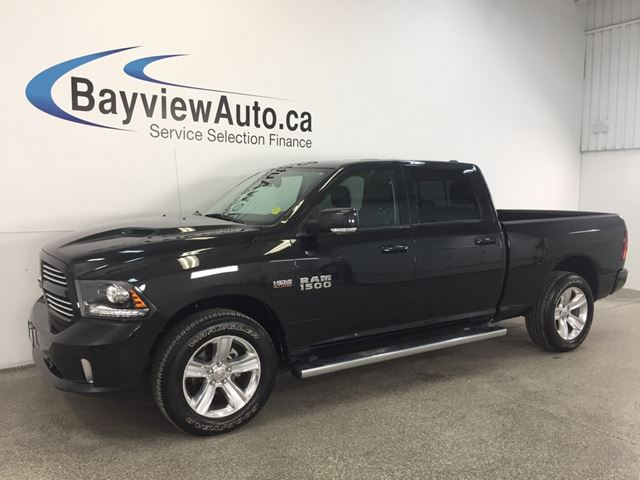 2016 dodge ram 1500 sport hemi 4x4 sunroof leather nav rev cam belleville ontario used. Black Bedroom Furniture Sets. Home Design Ideas