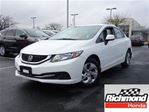 2013 Honda Civic LX! Honda Certified Extended Warranty to 160, 000 in Richmond, British Columbia