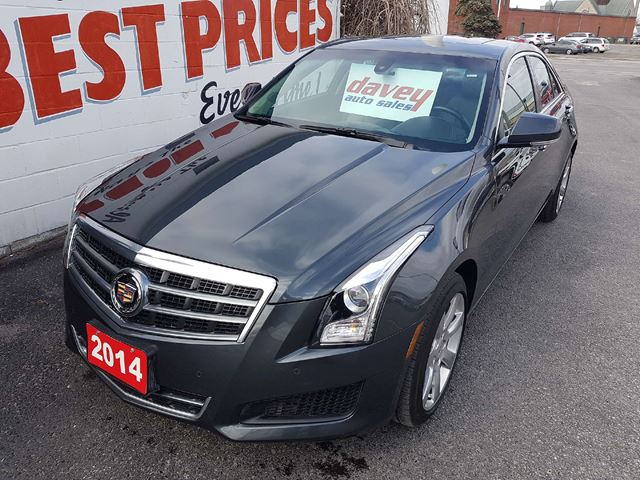 2014 CADILLAC ATS 2.0L Turbo Luxury ALL WHEEL DRIVE, SUNROOF, LEATHER INTERIOR in Oshawa, Ontario