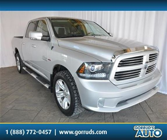 2014 dodge ram 1500 sport crew 4x4 5 7 hemi nav leather alloy rims silver gorruds auto group. Black Bedroom Furniture Sets. Home Design Ideas