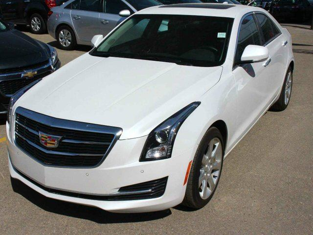 2016 cadillac ats awd luxury crystal white finance available edmonton alberta car for sale. Black Bedroom Furniture Sets. Home Design Ideas