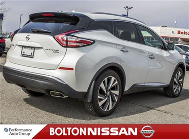 2016 nissan murano platinum awd heated seats leather bolton ontario used car for sale 2726598. Black Bedroom Furniture Sets. Home Design Ideas