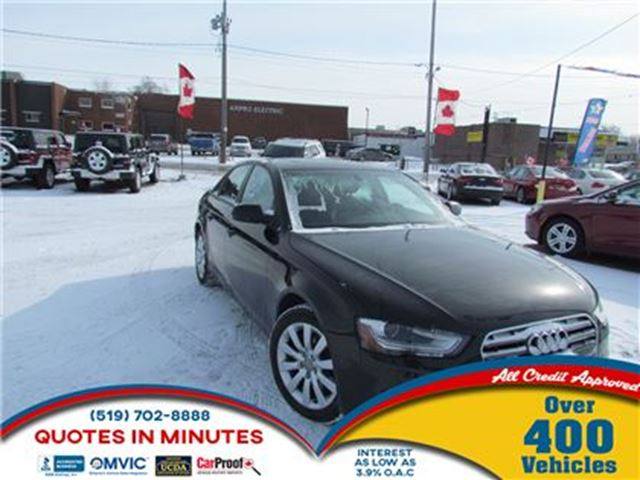 2013 AUDI A4 2.0T   LEATHER   NAV   HEATED SEATS   MUST SEE in London, Ontario