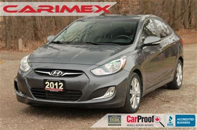 2012 HYUNDAI ACCENT GLS   ONLY 34K + Sunroof + Bluetooth +CERTIFIED + in Kitchener, Ontario