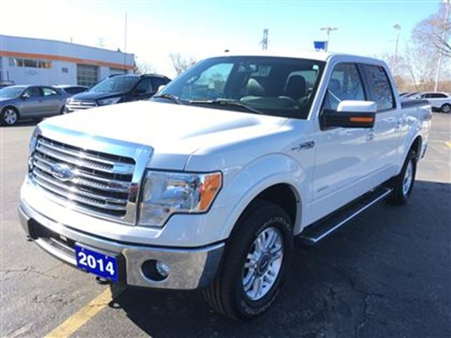 2014 ford f 150 lariat w 19100kms white discovery ford. Black Bedroom Furniture Sets. Home Design Ideas