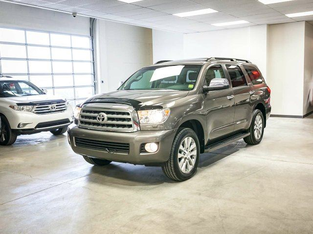 2012 Toyota Sequoia Limited, 3M Hood, Remote Starter, NAVIGATION, LEATHER, HEATED SEATS, SUNROOF, TOUCH SCREEN, BACK UP CAMERA, POWER LIFT GATE, ALLOY RIMS, BLUETOOTH, 5.7L V8, 4x4 in Edmonton, Alberta