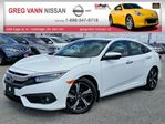 2016 Honda Civic Touring w/all leather,NAV,rear cam,climate control,heated seats,lane assist & front crash avoidence system in Cambridge, Ontario