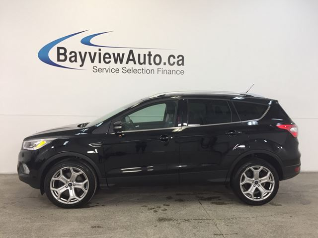 2017 FORD ESCAPE TITANIUM- 4WD! HITCH! ROOF! LEATHER! BLIS! NAV! in Belleville, Ontario