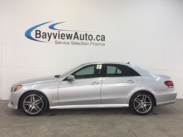 2016 MERCEDES-BENZ E400 - AWD! BI-TURBO! PANOROOF! AA! CP! in Belleville, Ontario