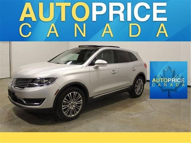 2016 Lincoln MKX PANOROOF NAVIGATION LEATHER in Mississauga, Ontario