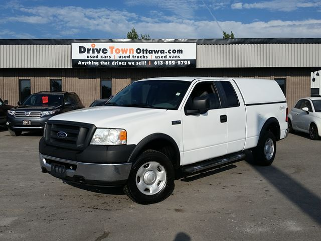 2007 ford f 150 xl super cab 4x4 white drivetown ottawa. Black Bedroom Furniture Sets. Home Design Ideas