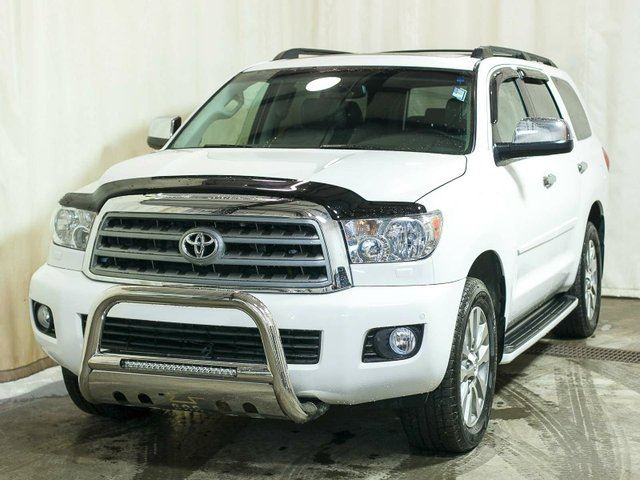 2012 Toyota Sequoia Limited 5.7L V8 4WD w/ Low KMs, Rear DVD, Navigation, Leather, Sunroof, Alloy Wheels in Edmonton, Alberta