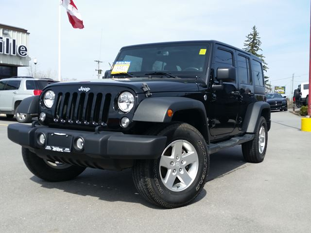 2014 Jeep Wrangler Unlimited Sport-DUAL TOPS-TOW GROUP in Belleville, Ontario
