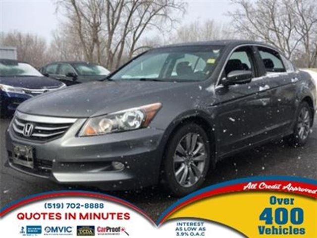 2011 HONDA ACCORD EX-L   V6   LEATHER   ROOF   HEATED SEATS in London, Ontario