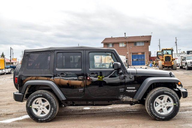 2017 jeep wrangler unlimited new car sport 4x4 soft top bluetooth sat radio air conditioning. Black Bedroom Furniture Sets. Home Design Ideas