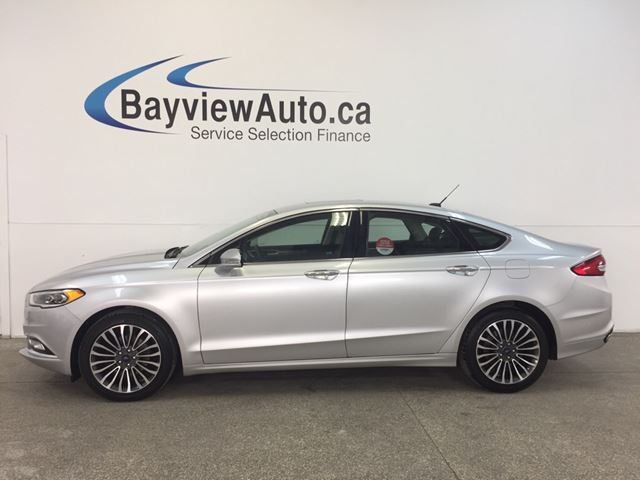 2017 FORD FUSION SE- AWD! REMOTE START! SUNROOF! LEATHER! NAV! SYNC in Belleville, Ontario