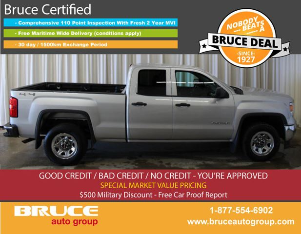 2014 GMC SIERRA 1500 WT 4.3L 6 CYL AUTOMATIC 4X4 EXTENDED CAB in Middleton, Nova Scotia
