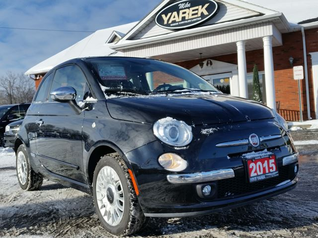 2015 FIAT 500 Lounge C, Convertible, Leather Heated Seats, Bluetooth,   in Paris, Ontario