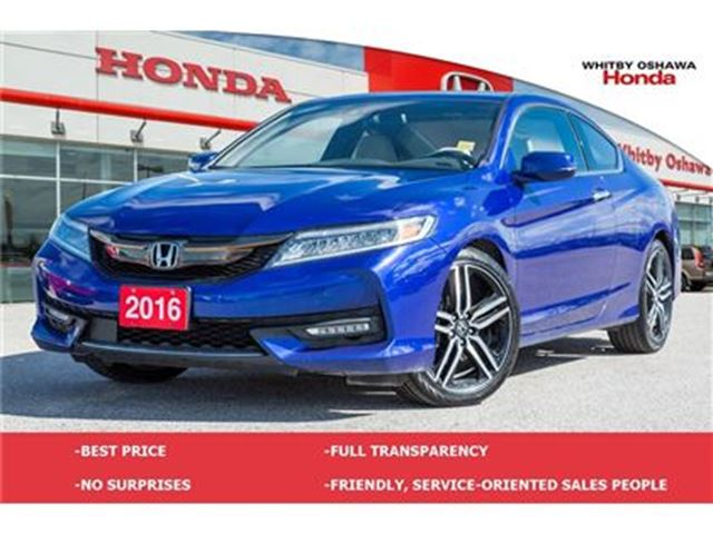 2016 honda accord touring v6 whitby ontario used car for sale 2746085. Black Bedroom Furniture Sets. Home Design Ideas