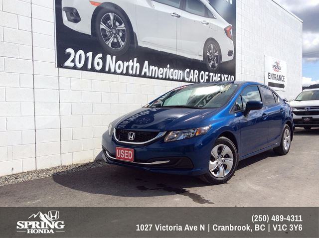 2015 Honda Civic LX $128 Bi-Weekly in Cranbrook, British Columbia
