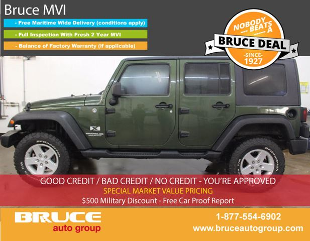 2007 Jeep Wrangler X UNLIMITED 3.6L 6 CYL 6 SPD MANUAL 4X4 in Middleton, Nova Scotia