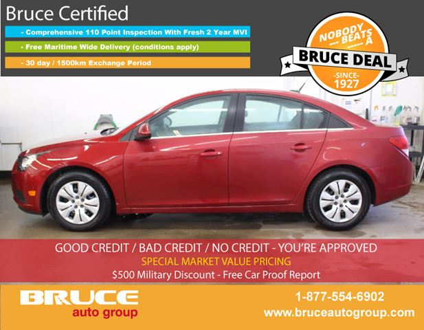 2014 CHEVROLET CRUZE LT 1.4L 4 CYL TURBOCHARGED AUTOMATIC FWD 4D SED in Middleton, Nova Scotia