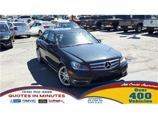 2013 MERCEDES-BENZ C-CLASS C300 4MATIC   ROOF   NAV   LEATHER   FULLY LOADED in London, Ontario