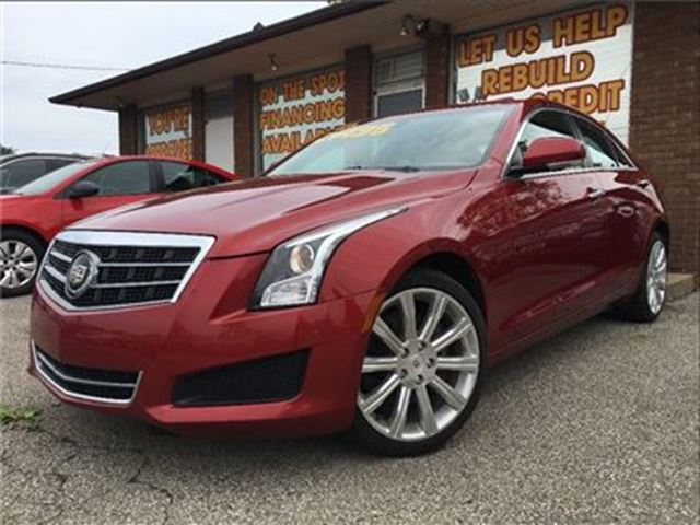 2014 CADILLAC ATS 2.0L Turbo Luxury AWD NAV LEATHER MOON ROOF in St Catharines, Ontario