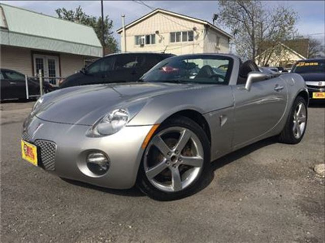 2008 Pontiac Solstice FUN ROADSTER!! 5SPD LEATHER A/C ALLOYS in St Catharines, Ontario