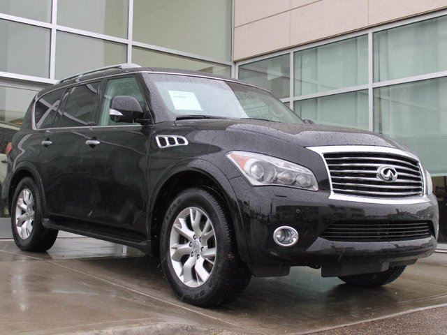 2013 INFINITI QX56 AROUND VIEW MONITOR/NAVIGATION/HEATED AND COOLED SEATS/DVD in Edmonton, Alberta
