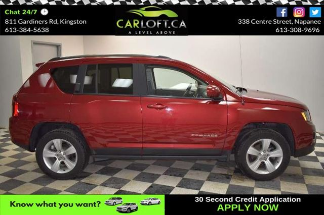 2016 JEEP COMPASS HIGH ALTITUDE 4X4 - LOW KMS**SUNROOF**LEATHER in Kingston, Ontario