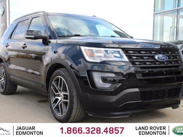 2017 Ford Explorer Sport - Local One Owner Trade In | No Accidents | Navigation | Back Up Camera | Parking Sensors | Blind Spot Monitor | Pre-Collision Warning | Adaptive Cruise Control | Power Sunroof | Power folding 3rd row Seats | Seats 6 | Power Liftgate | Factory  in Edmonton, Alberta