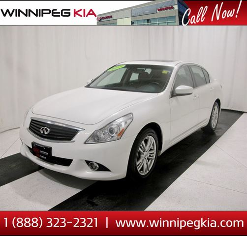 2013 INFINITI G37 x Luxury *No Accidents! Always Owned In MB!* in Winnipeg, Manitoba