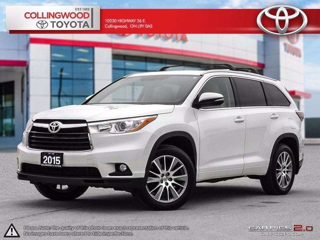 2015 Toyota Highlander XLE AWD NAVIGATION SOLD AND SERVICED HERE in Collingwood, Ontario