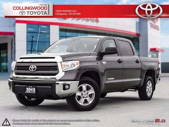 2015 Toyota Tundra SR5 PLUS PACKAGE 5.7L V8 4X4 CREWMAX in Collingwood, Ontario