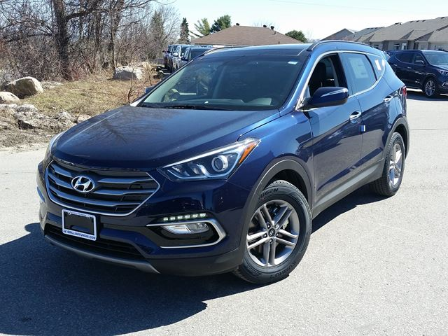 2017 hyundai santa fe se awd demo warrany to 200 000km blue orillia hyundai new car. Black Bedroom Furniture Sets. Home Design Ideas