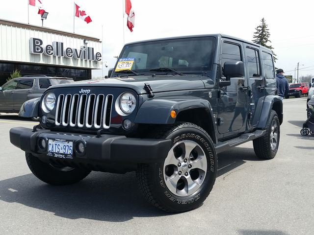 2017 Jeep Wrangler Unlimited Sahara-BLUETOOTH-REMOTE START in Belleville, Ontario