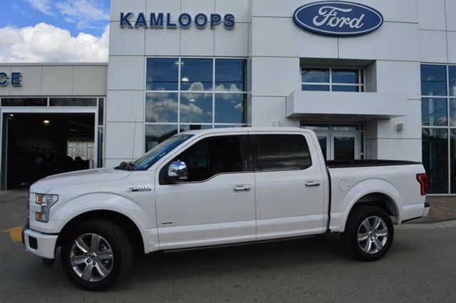 2015 FORD F-150 Platinum 4x4 SuperCrew Cab 5.5 ft. box 145 in. WB in Kamloops, British Columbia