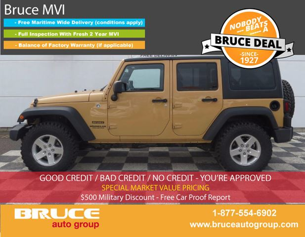 2014 JEEP WRANGLER UNLIMITED SPORT 3.6L 6 CYL AUTOMATIC 4WD 4-DOOR in Middleton, Nova Scotia
