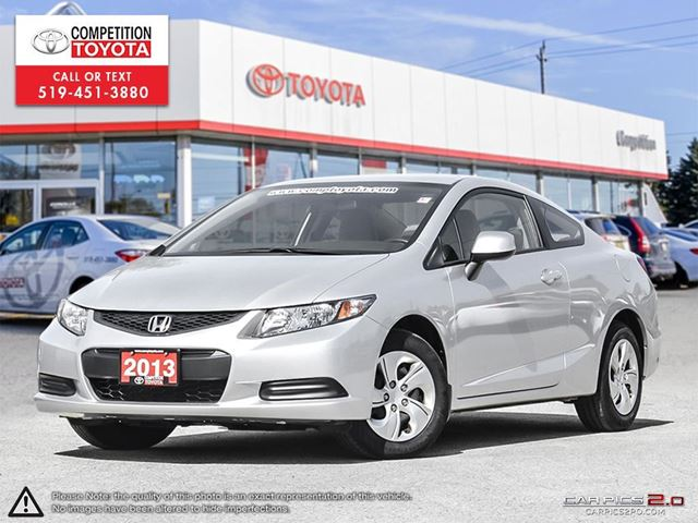 2013 HONDA CIVIC LX One Owner, No Accidents in London, Ontario
